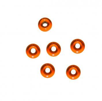 Tungsten Perle 3,3 mm Orange Jenzi