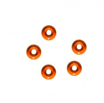 Tungsten Perle 4,0 mm Orange Jenzi